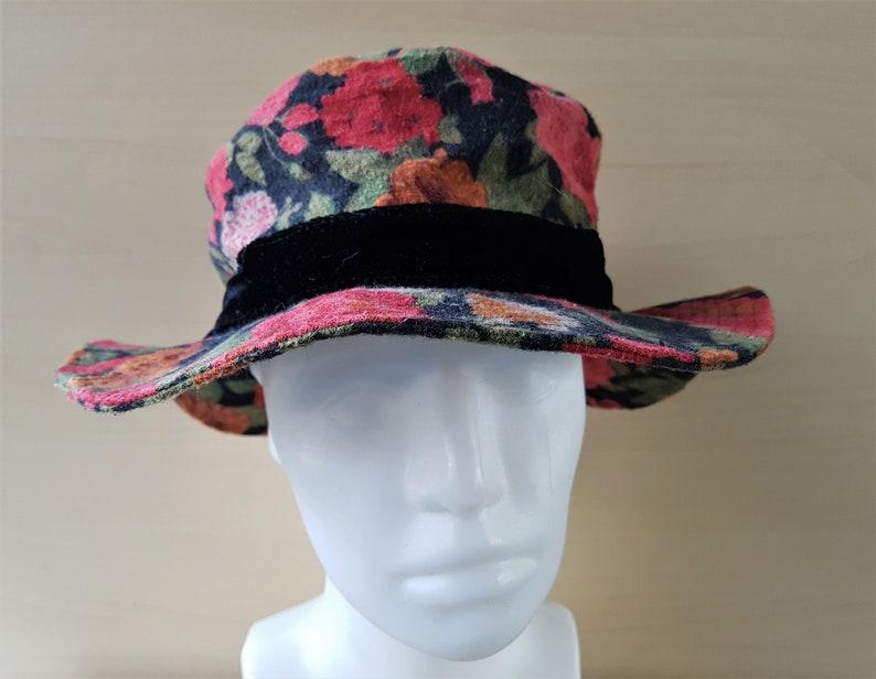 11594082bd2 Basiquenti Ladies Vintage Soft Brushed Cotton Floral Bucket