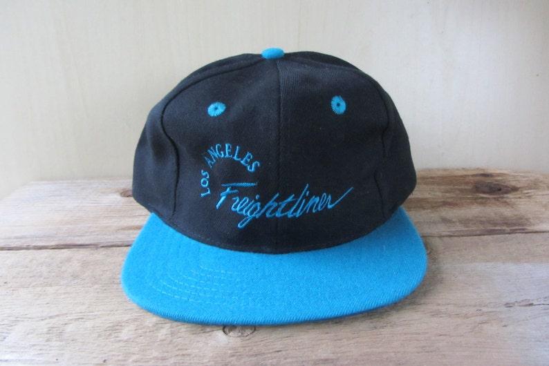 02ff22c112131 LOS ANGELES FREIGHTLiNER Vintage 90s Script Snapback Hat Truck