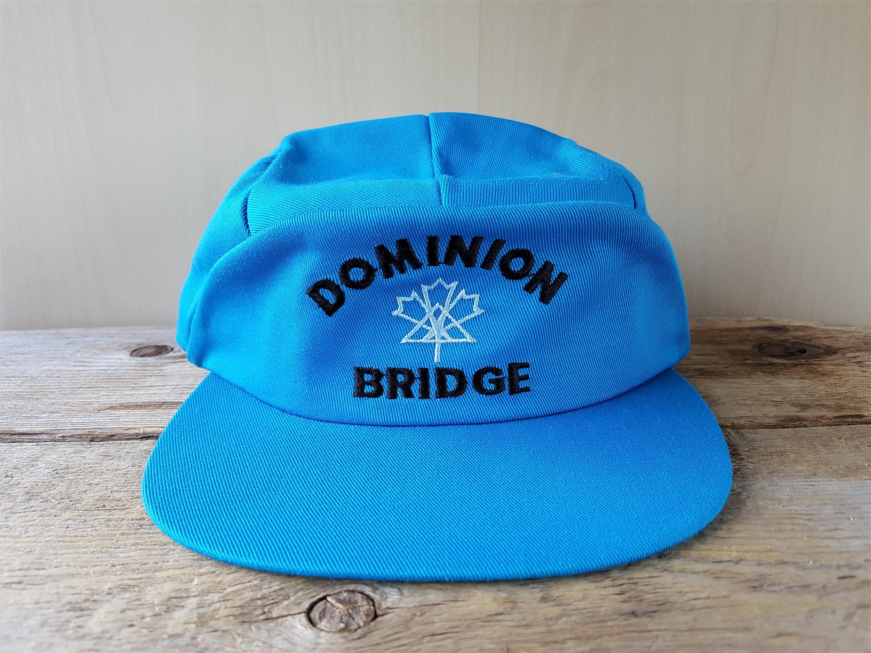 d7961bd59b7 DOMINION BRIDGE Original Vintage 80s Blue 5 Panel Snapback Hat