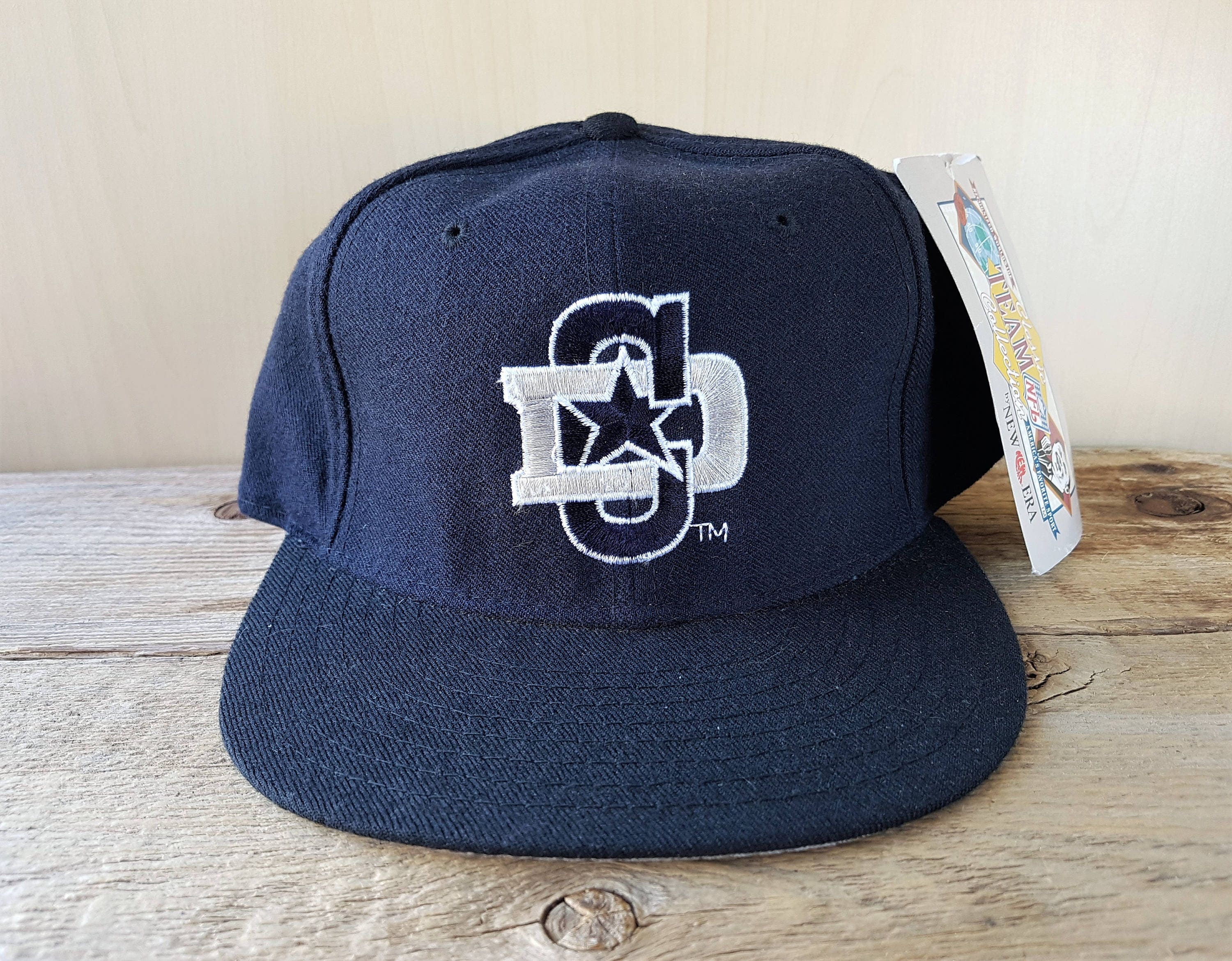 4cfe69a4 Dallas COWBOYS Original Vintage 90s New Era 5950 Pro Model Fitted Wool Hat  7 5/8 Official NFL Classic Team Collection Cap NWT Deadstock