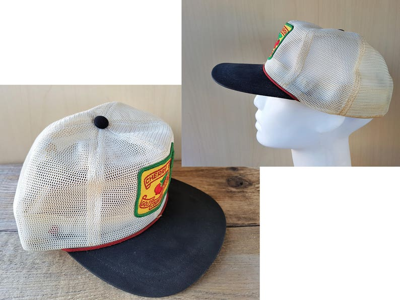 d488978392f7e CHERRY GROVE Golf Country Club Vintage 70s Rope Lined All Mesh