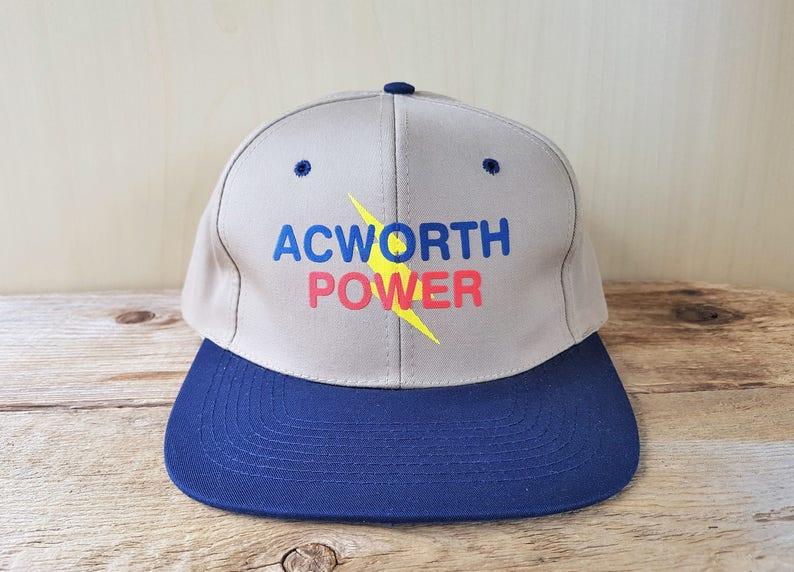 244166e9 ACWORTH POWER Vintage Snapback Hat Electrical Utilities Promo Baseball Cap  High Voltage Hip Hop Georgia Nissun 2 Tone Ballcap
