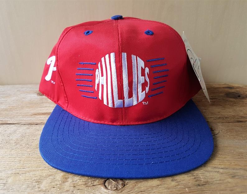 Philadelphia PHILLIES Vintage 90s Snapback Hat Official MLB  2d27adbc1ab0