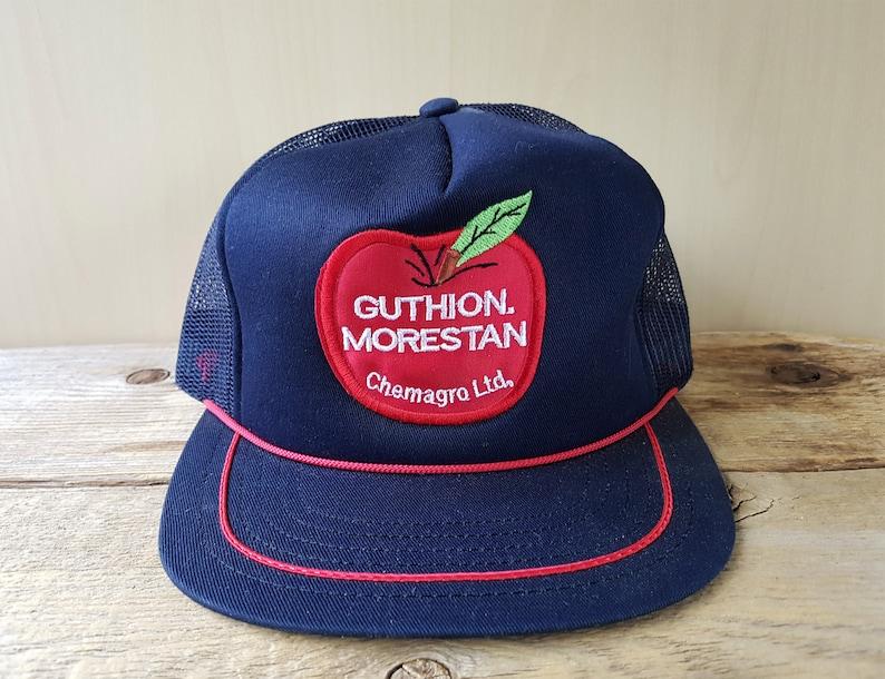 GUTHION MORESTAN Chemagro Ltd Vintage 80s Mesh Trucker Hat  cacb79c3fed1