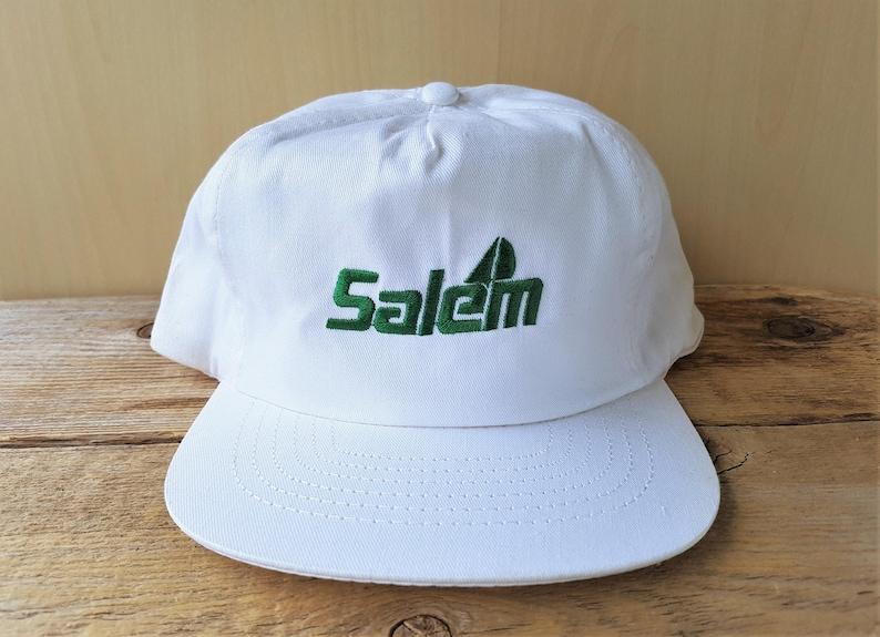 89c6cf90 SALEM Cigarettes Vintage 90s Solid White Snapback Hat RJ | Etsy