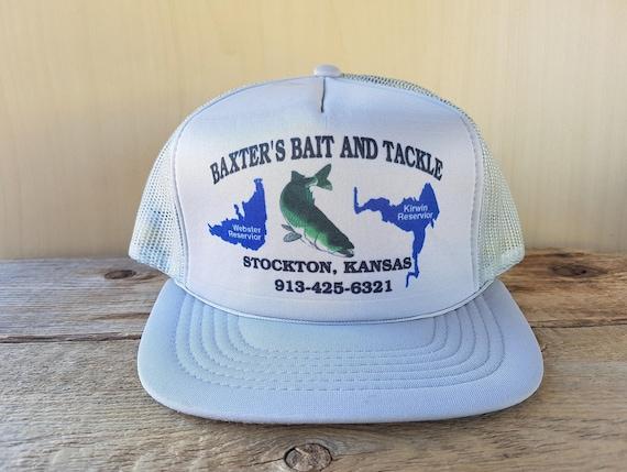 b72dd30894a Baxter s Bait And Tackle Stockton Kansas Vintage 80s Gray