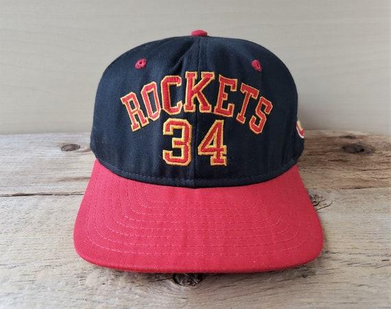 new appearance new high quality 100% quality Vintage 90s Houston ROCKETS 34 Hakeem OLAJUWON Snapback Hat | Etsy