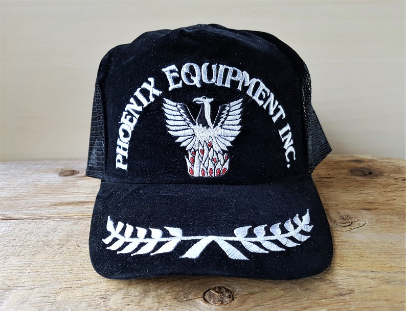 095e15aea5f0de Vintage 80s PHOENIX EQUIPMENT INC. Trucker Hat Embroidered | Etsy