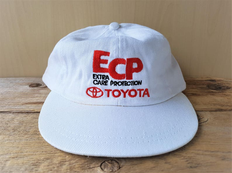 6d2a2564a39 TOYOTA Extra Care Protection Original Vintage 90s White Hat
