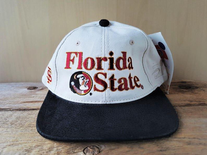 768cde77b03b1 Vintage 90s Florida State SEMINOLES Strapback Hat Sports