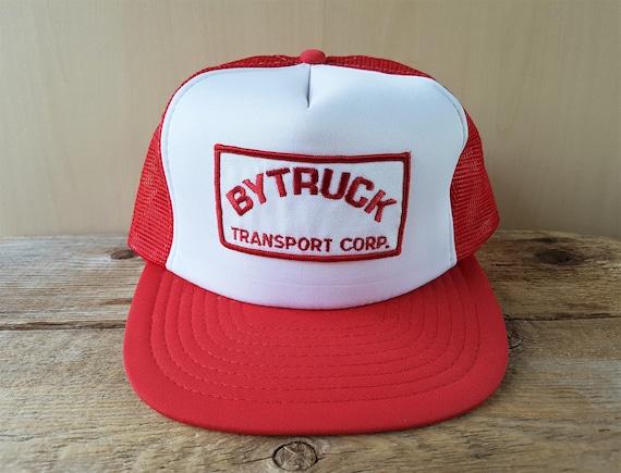 BYTRUCK TRANSPORT Corp. Vintage 80s Red Mesh Trucker Snapback  3a49365e8d4b