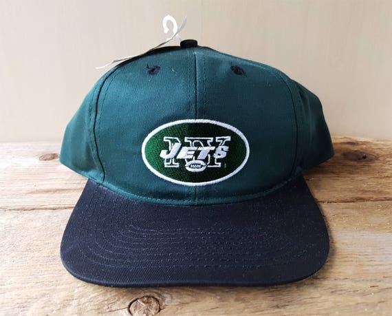 New York JETS Vintage 90s Official Game Day NFL Snapback Hat  430396f05