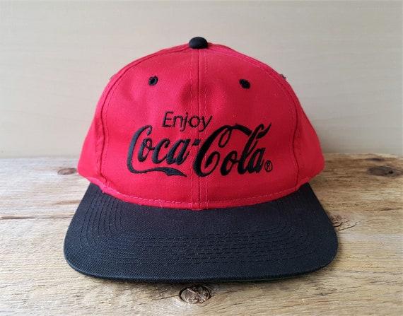 Vintage Enjoy COCA-COLA Snapback Hat Classic Original 2 Tone  ef3cf34dde8d