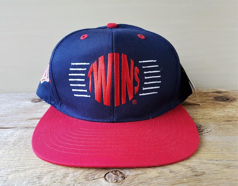 8387b44cd987a Minnesota TWINS Vintage 90s Snapback Hat Official MLB Baseball
