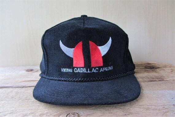 VIKING CADILLAC APRONS Vintage Black Corduroy Snapback Hat  0ab347ca96af