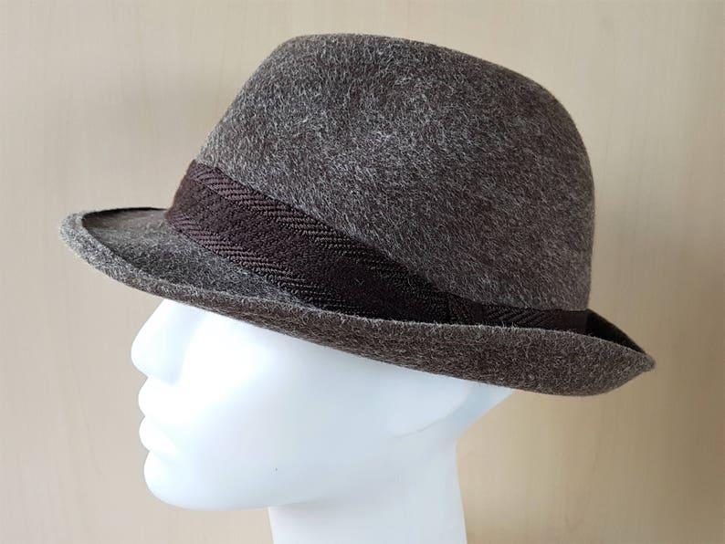 1ad374a0a8471 Vintage 60s REIN HAAR Fur Felt Fedora Hat by STANTON London