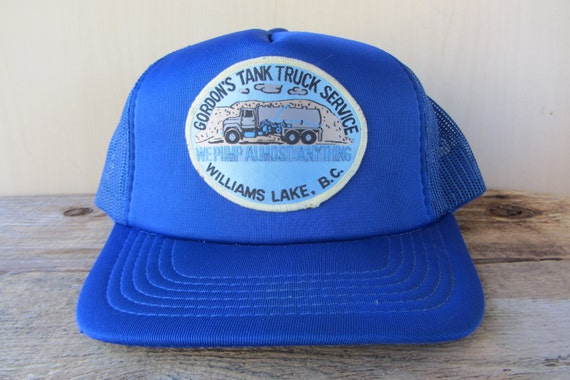 8978e0ddbd947 GORDON S Tank Truck Service Original Vintage 80s Blue Mesh