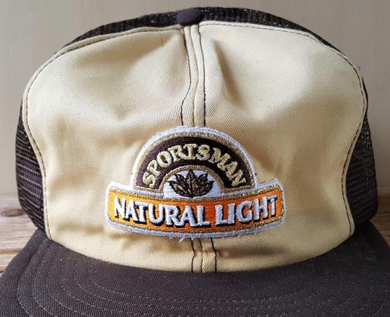 Rare Vintage 80s SPORTSMAN NATURAL LIGHT Cigarettes Trucker  8cf5effb427