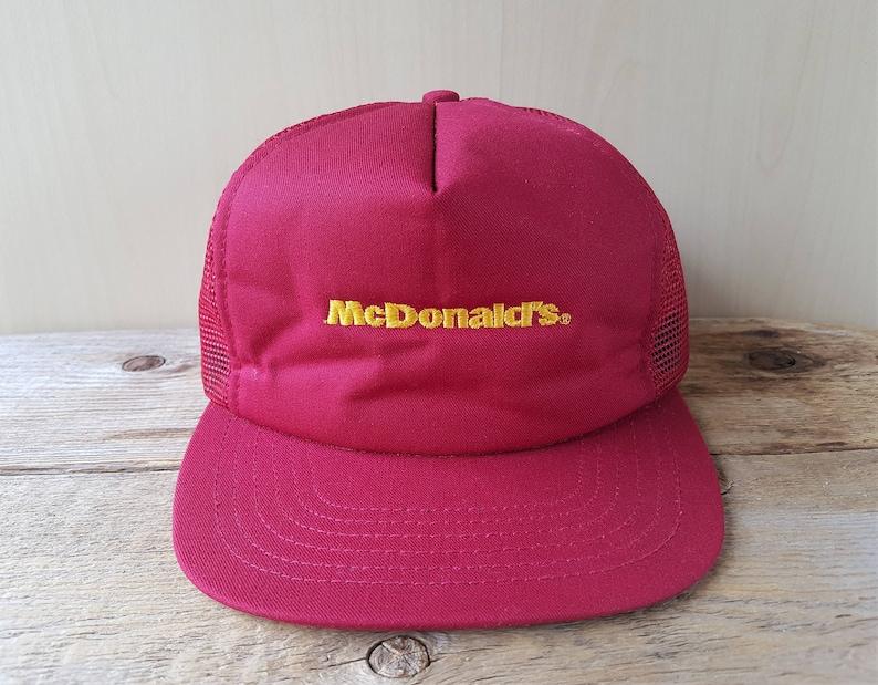 b22905f519c McDONALD S Vintage 1986 Commercial Uniform Trucker