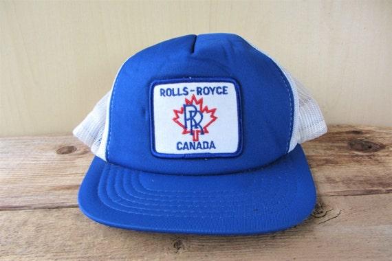 ROLLS ROYCE CANADA Original Vintage 80s Trucker Hat White Mesh  cd8c0746cb3d