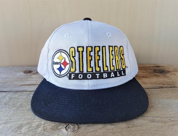 Pittsburgh STEELERS Snapback Hat Vintage 90s STARTER Shiny  827c0d0b3f0