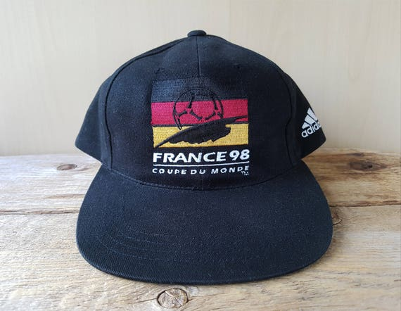 a37c1e0a41b Vintage FRANCE 98 World Cup FIFA Hat DEUTSCHLAND Flag Football