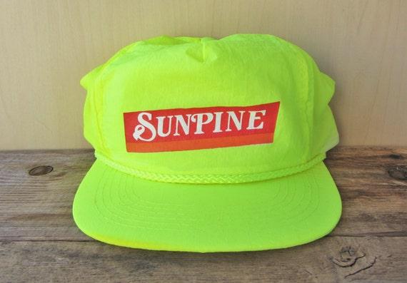 56a6e48f212 SUNPINE FOREST PRODUCTS Ltd. Original Yellow Neon Vintage 90s