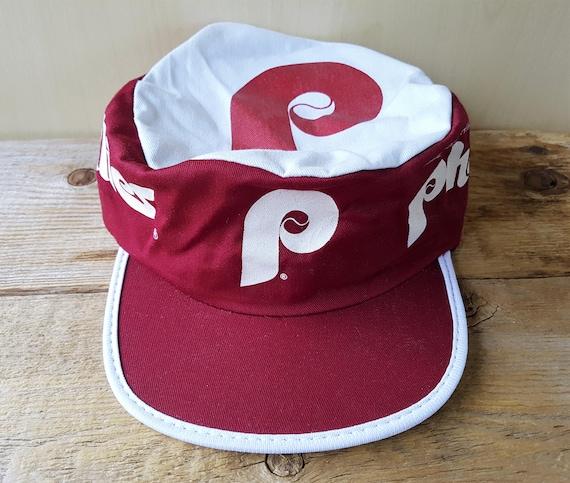 8ed1507f09c831 ... fitted cap in red for men e2c45 e17ca; promo code for vintage 80s  philadelphia phillies painter hat ncaa pillbox etsy 4722f 3e74c