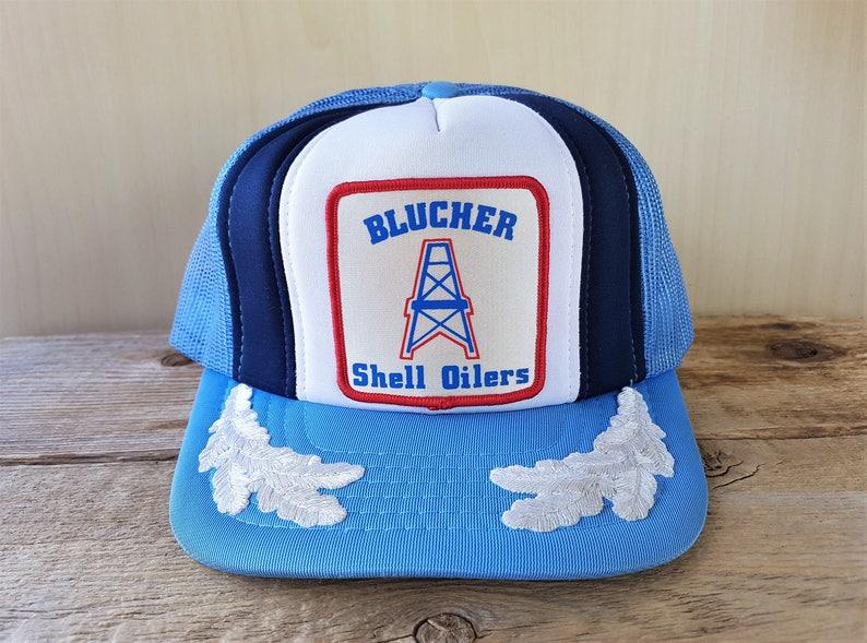 BLUCHER SHELL OiLERS Original Vintage 80s Mesh Trucker  74b699d3cff