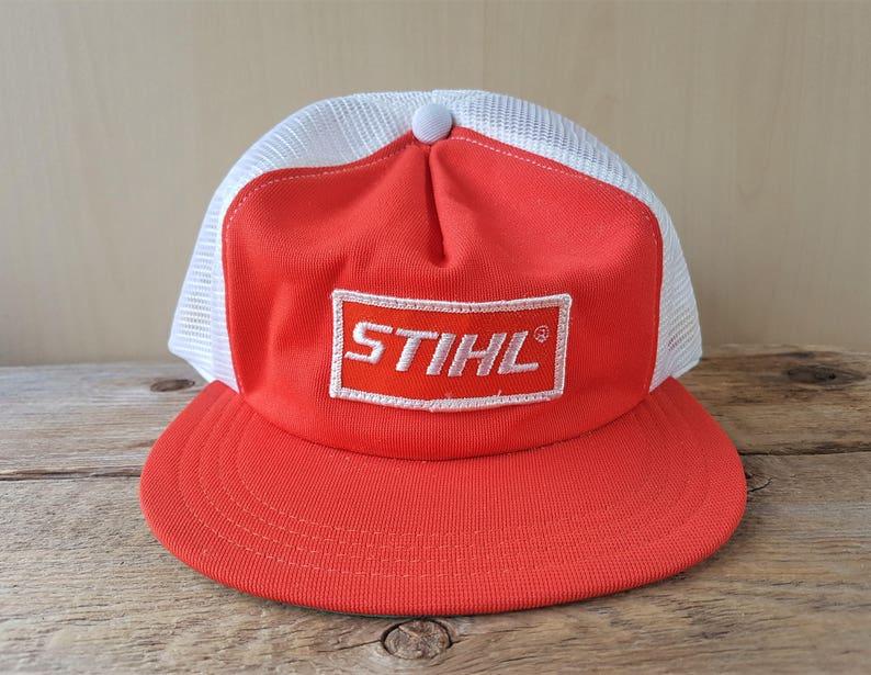 01603e6f882e39 Vintage 70s Hat STIHL Brand Chainsaw Mesh Hat Union Label | Etsy