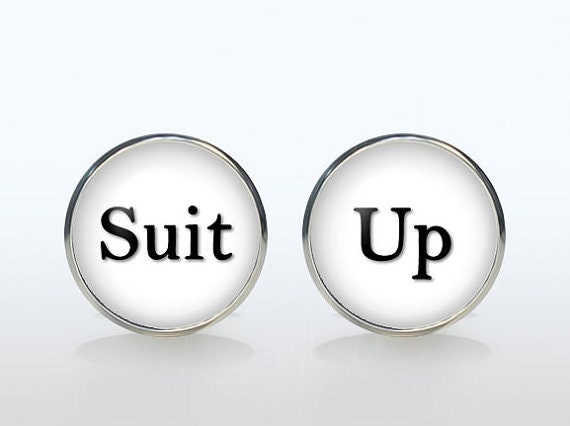 Suit Up cufflinks Suit-Up cuff links personalized gift for boyfriend Christmas gift wedding cufflinks groom gift accessories jewelry unique