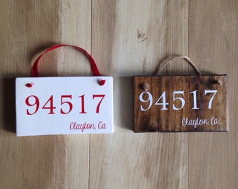 Zip Code Ornament- City/Town(Personalized)