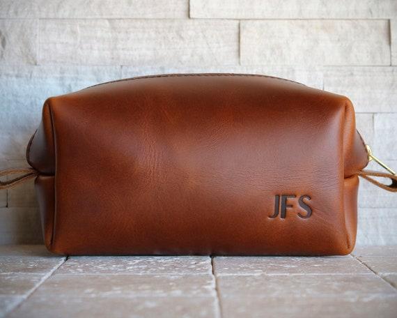 Personalized Mens Dopp Kit Leather Travel Bag Leather Shaving   Etsy 5bb7be9e91