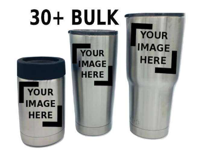 30+ BULK Etched Engraved Stainless Tumblers promotional gifts