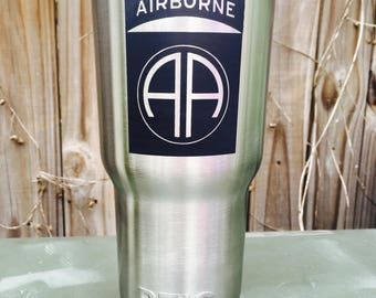 Military tumblers bottles cups Airborne MP special Unit Custom Etching