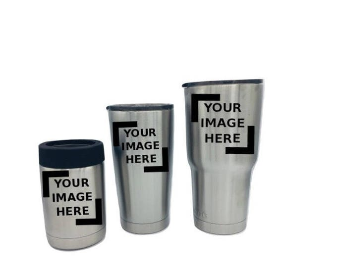 Laser Engraved Tumblers, can holders, bottles Stainless, Custom