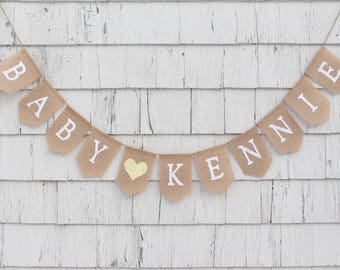Baby Name Banner Etsy