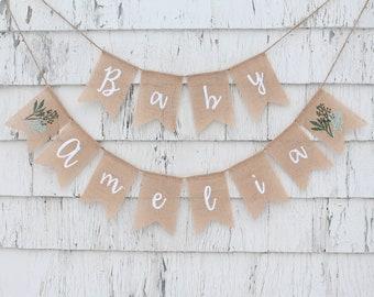 pumpkin baby shower personalized banner gold banner for baby shower gender reveal banner custom banner fall baby shower Baby shower banner