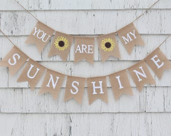 You/'re My Sunshine Birthday Ombre Backdrop Banner Rainbow Party Pennant Banner Nursery Decor Baby Shower Bunting Art Garland Decoration