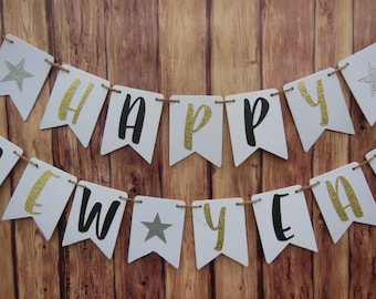 new years banner new years eve party decorations new years decor happy new year banner new years party 2018 banner gold glitter banner