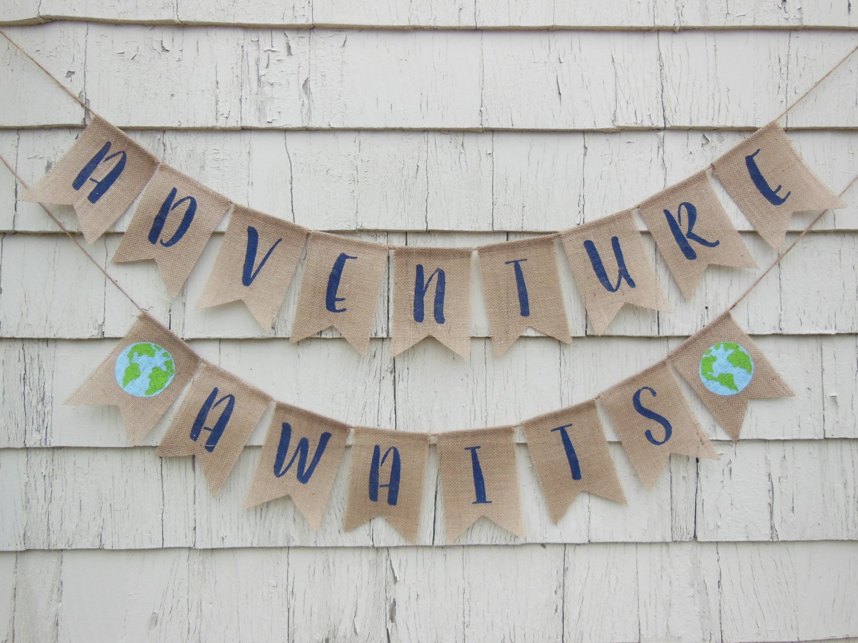 Adventure Awaits Banner Adventure Awaits Baby Shower