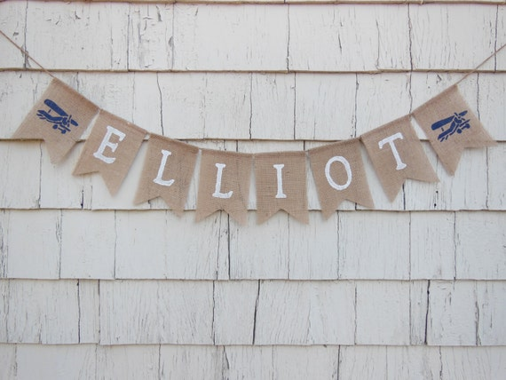 airplane nursery decor custom name banner personalized name etsy
