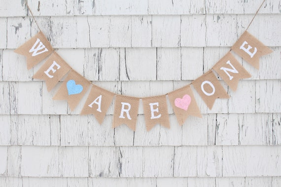 Twins First Birthday Decor Twins Birthday Photo Prop Twins Turning One Picture Backdrop Centerpiece We Are One 1st Birthday Banner