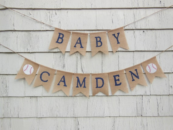 Baseball Baby Shower Decorations Baseball Baby Banner Custom Etsy