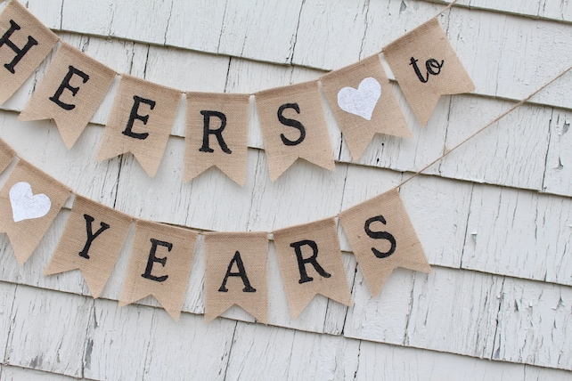 Cheers To 90 Years 90th Birthday Decorations Banner Loved Happy Rustic