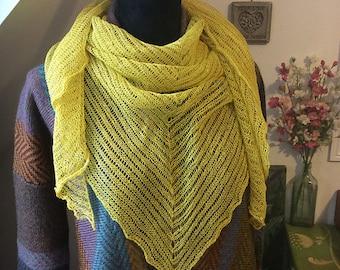 Machine Knitting Pattern Tuan Shawl PDF Linen Wool Wrap Scarf