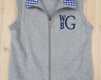 d39bce44a999 Kids monogram vest