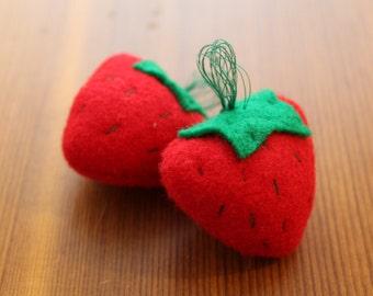 Felt Strawberries-Set of 6