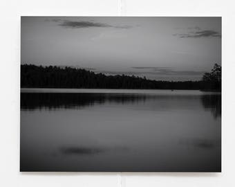 Black and White Prints Wall Art Nature Photography, Boundary Waters, Minnesota Gifts, Lake House Decor, Lake Photography Wall Art Bathroom