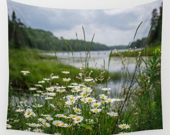 Wall Tapestry, Nature Photography, Large Wall Art, Indoor Wall Decor, Outdoor Photo Art, Boundary Waters, Minnesota Images, Wildflower Photo